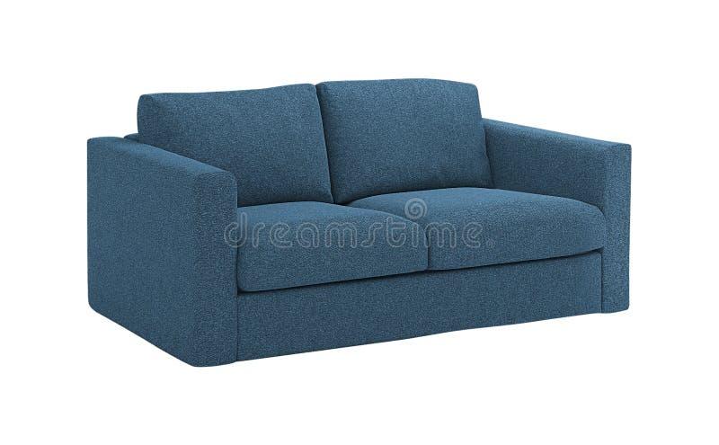 Уютная голубая софа стоковое изображение rf