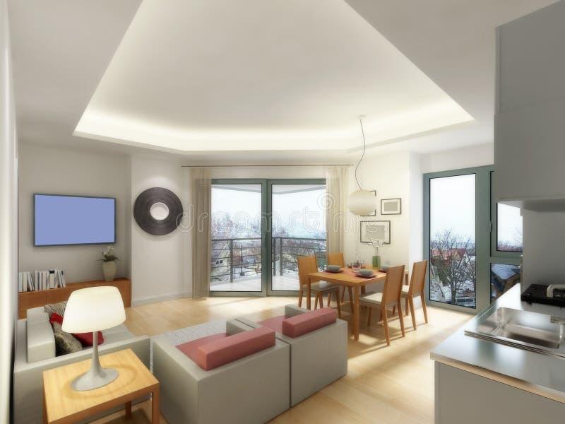 уютная живущая комната бесплатная иллюстрация
