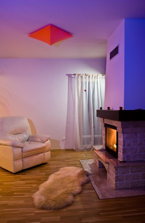 уютная живущая комната стоковое изображение