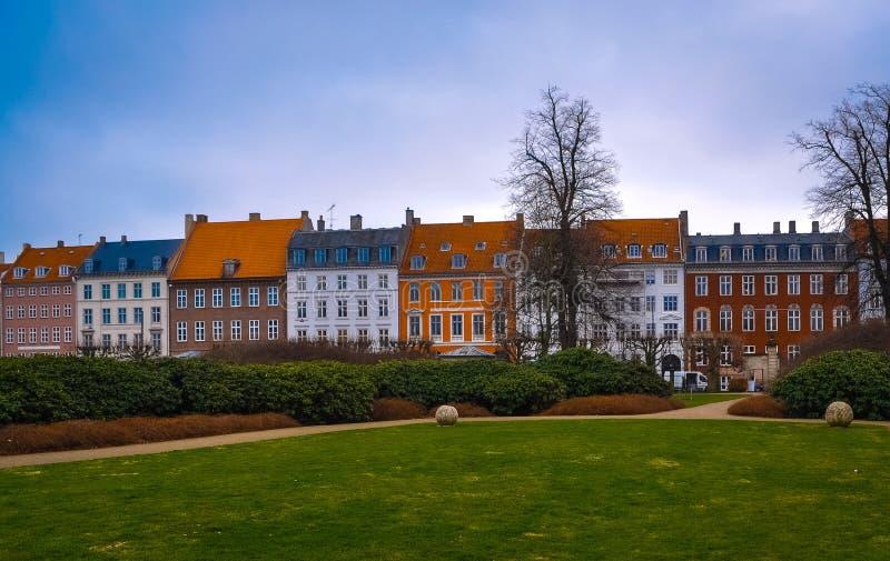 Уютные красивые дома в Дании стоковое изображение rf