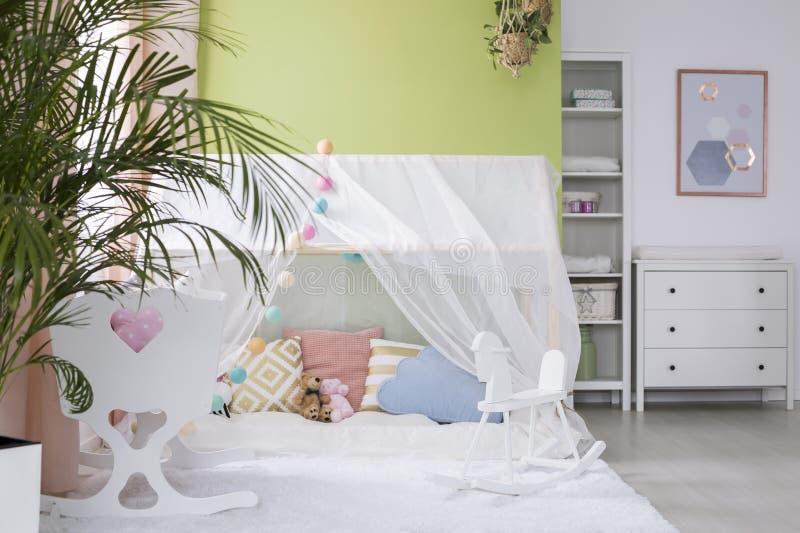 Уютный шатер игры стоковое изображение