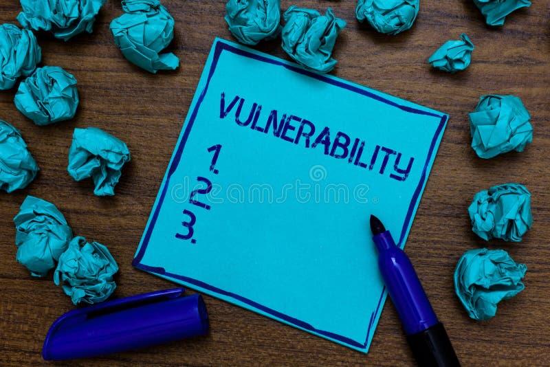 Уязвимость текста почерка Системы подверженности данным по смысла концепции прослушивают imaginatio атакующего эксплуатирования C стоковая фотография