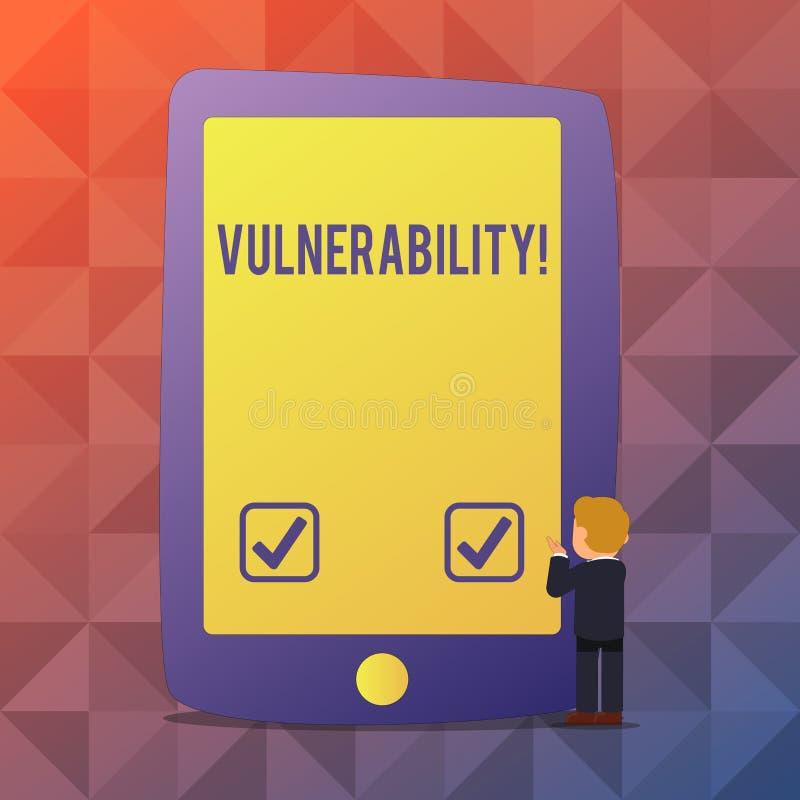 Уязвимость текста сочинительства слова Концепция дела для систем подверженности информации прослушивает атакующего эксплуатирован иллюстрация вектора