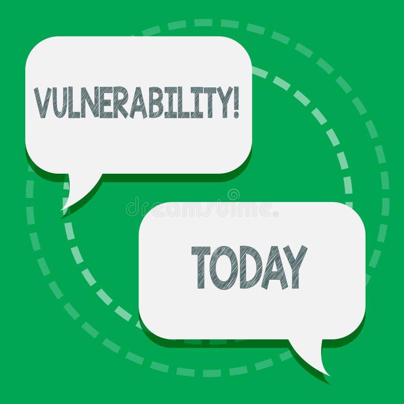Уязвимость текста сочинительства слова Концепция дела для систем подверженности информации прослушивает атакующего 2 эксплуатиров иллюстрация штока