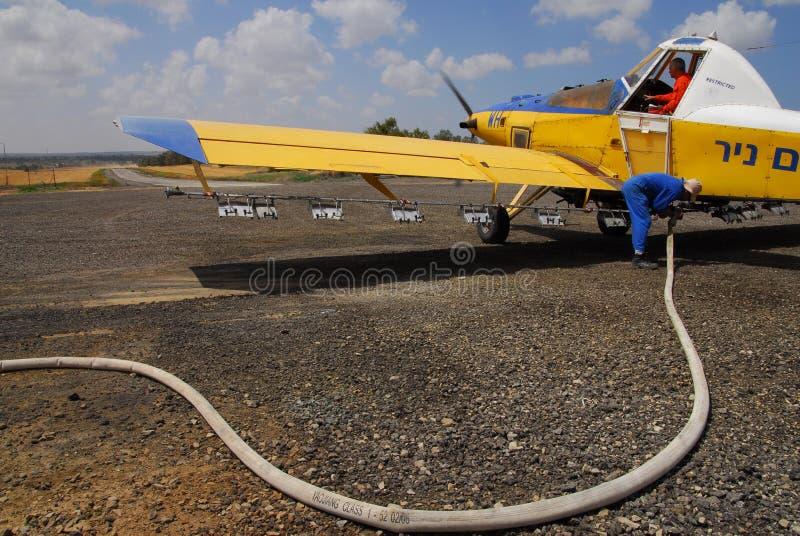 Удабривать самолет стоковое фото rf