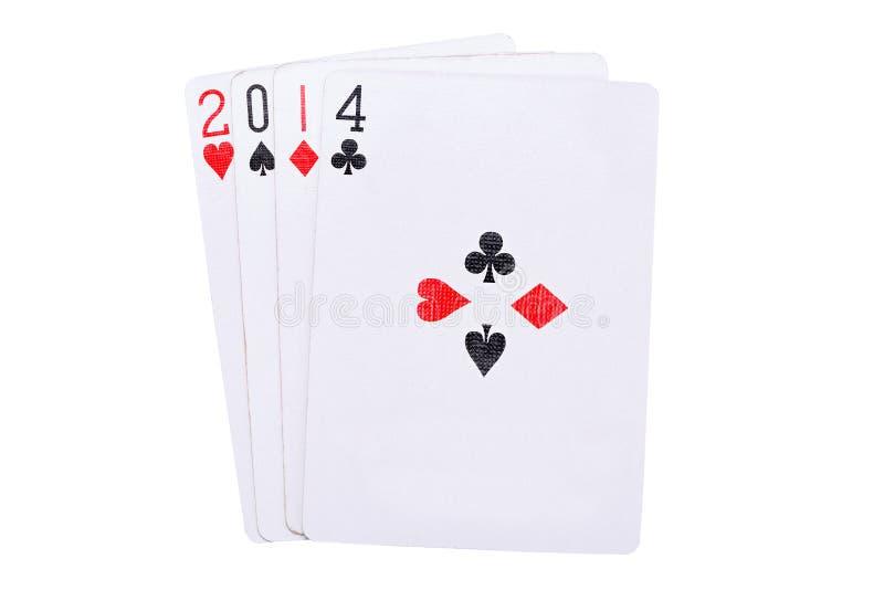 Download Удачливый год 2014 в карточках Стоковое Фото - изображение насчитывающей вырез, схематическо: 37929964