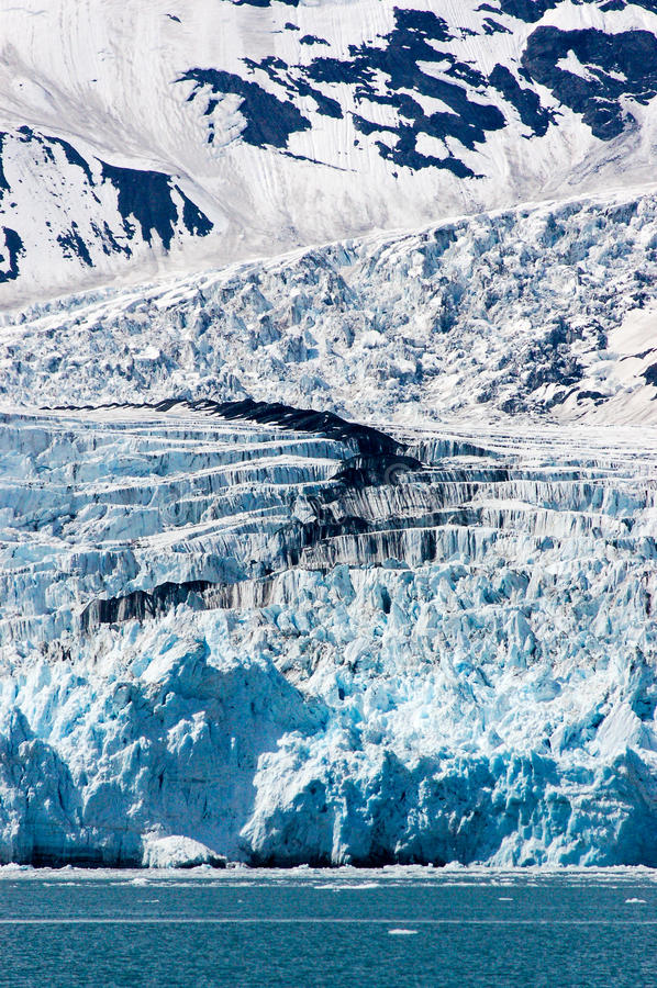 Удивите ледник на фьорде Harriman в Prince William Sound, увы стоковое фото rf
