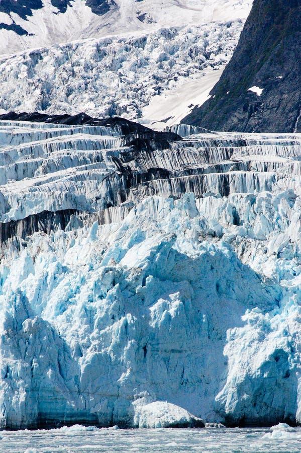 Удивите ледник на фьорде Harriman в Prince William Sound, увы стоковые изображения