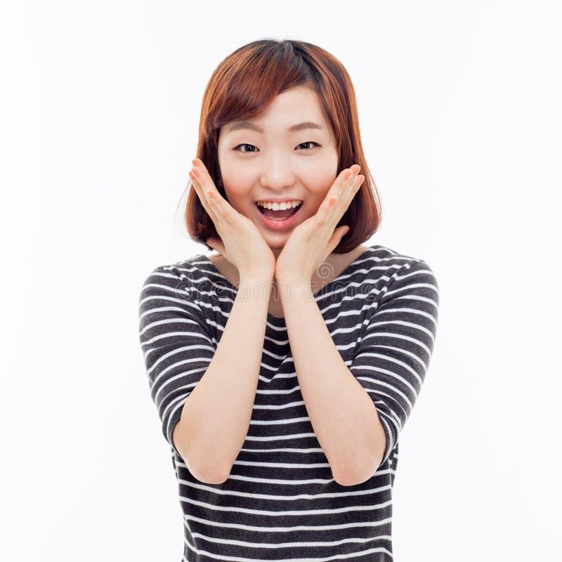 Удивительно молодая азиатская девушка стоковая фотография rf