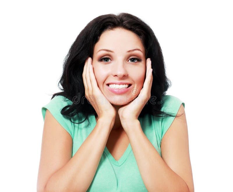 удивленная женщина стоковое изображение rf