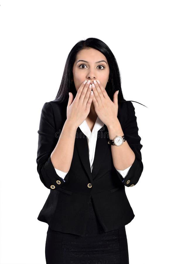Удивленная молодая женщина стоковое фото rf