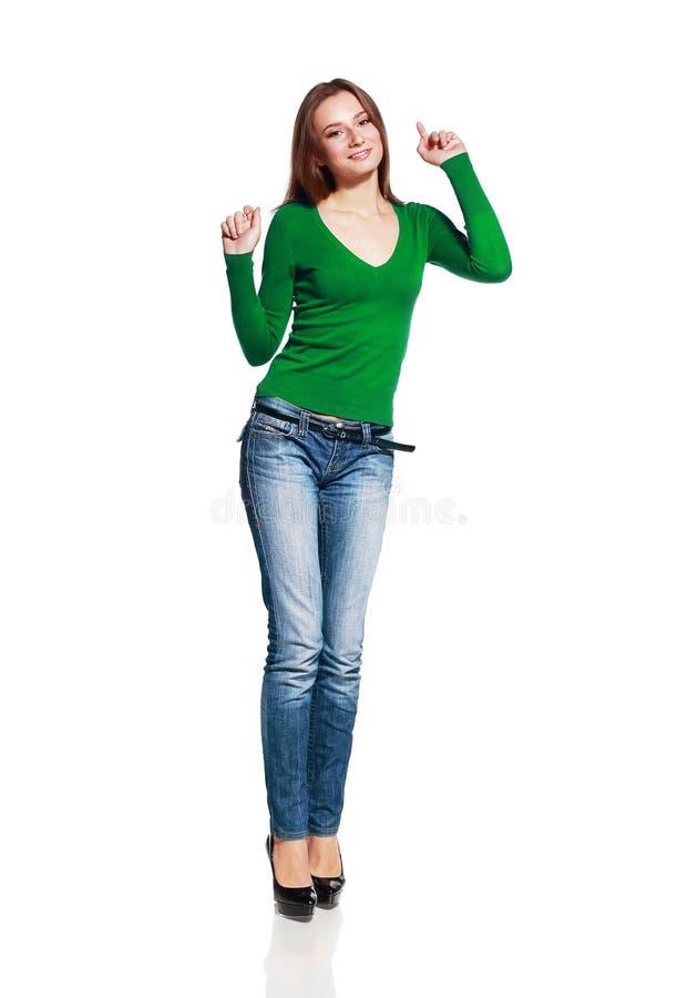 удивленные детеныши женщины стоковое изображение