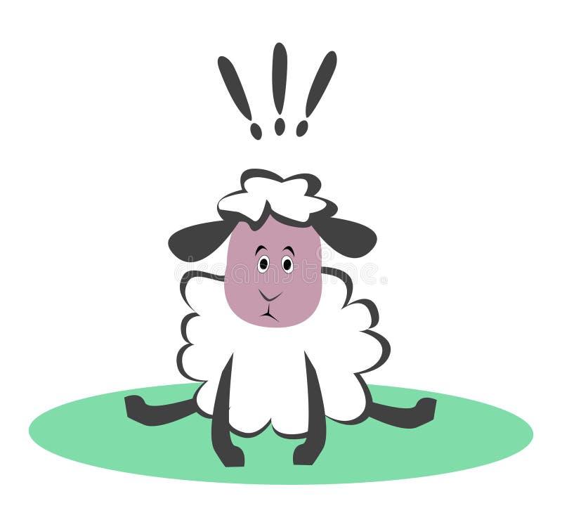 Удивленные смешные овцы бесплатная иллюстрация