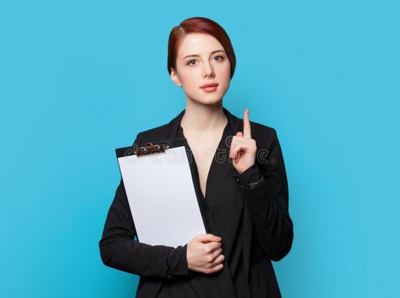 Удивленный портрет бизнес-леди стоковые изображения