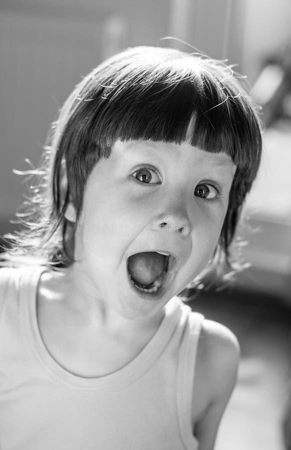 удивленный ребенок стоковая фотография rf