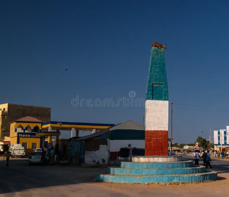 Удите памятник в центре Berbera Сомали стоковые фотографии rf