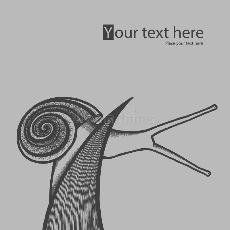 Download Улитка Drow руки на травинке Иллюстрация вектора - иллюстрации насчитывающей серо, scribble: 41662351