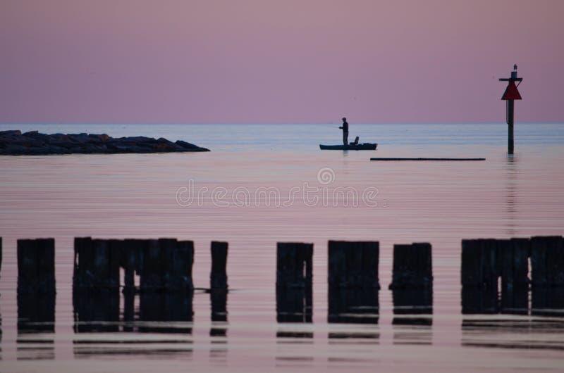 Удить в заливе стоковое изображение rf