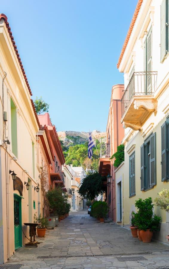 Улица Афин, Греции стоковое изображение rf