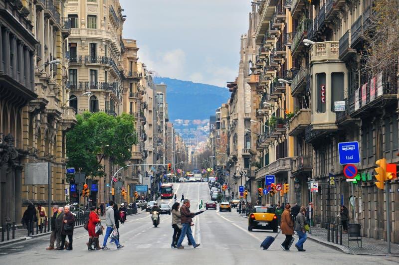 Улица Барселоны стоковые фотографии rf