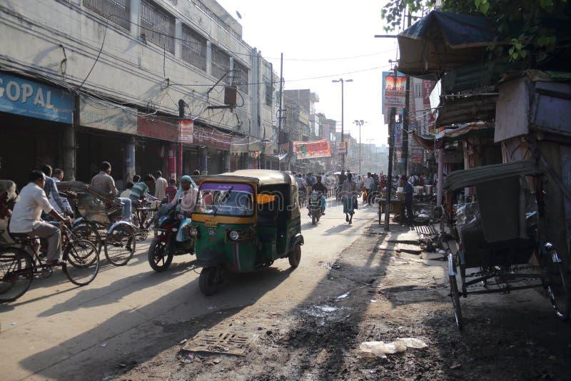 Улица Варанаси в Индии стоковая фотография rf