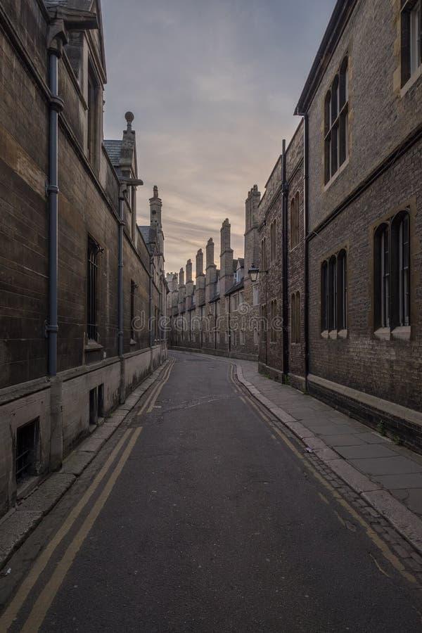 Улица викторианец Кембриджа стоковое фото