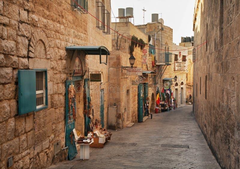 улица Вифлеема старая Палестинские автономии Израиль стоковые фотографии rf