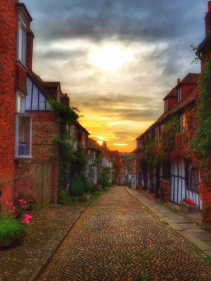 Улица восточное Сассекс русалки Rye стоковые изображения rf
