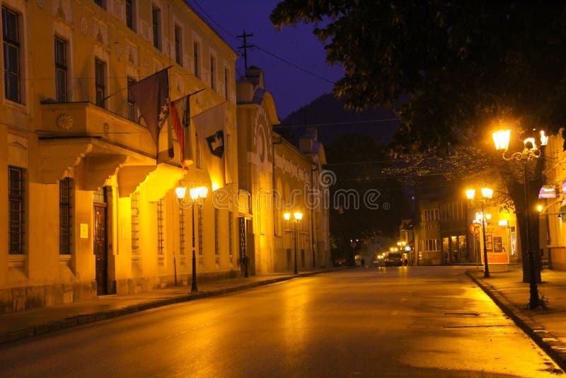 Улица в Боснии Сараеве стоковое фото rf