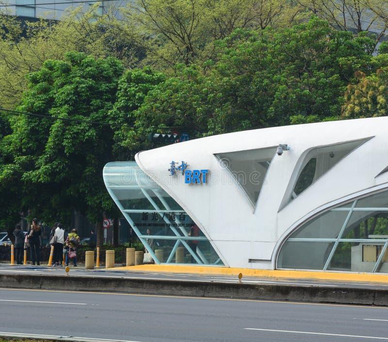 Улица в городе Taichung, Тайване стоковая фотография