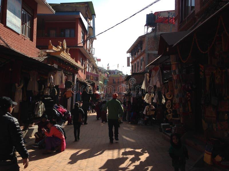 Улица в Катманду стоковые фото