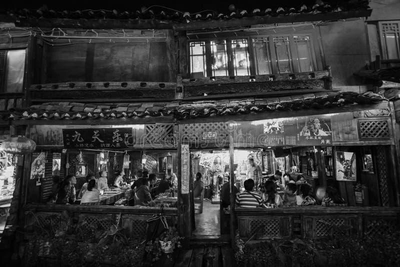 Улица в Китае стоковые фотографии rf