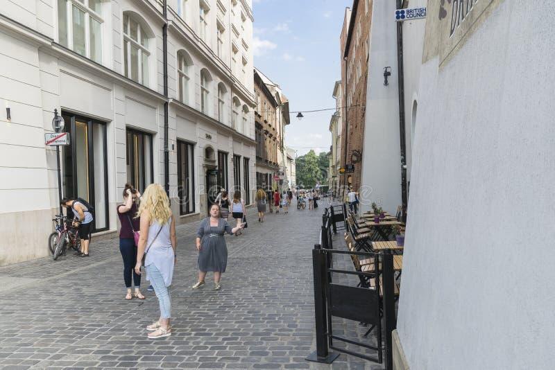 Улица в Кракове стоковая фотография rf