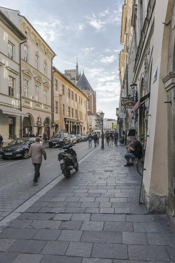 Улица в Кракове стоковое изображение