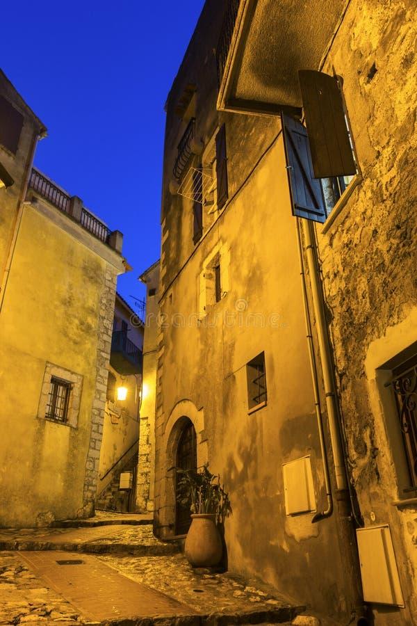 Улица в Ла Turbie в Франции стоковое фото rf