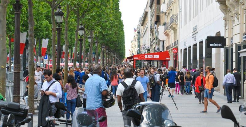 Улица в Париже, Франции стоковая фотография