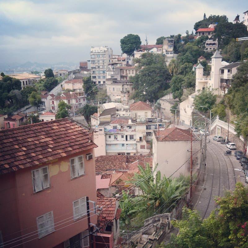 Улица в Санте Терезе, Рио-де-Жанейро, Бразилии стоковое изображение rf
