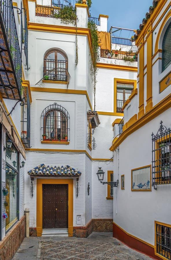 Улица в Севилье, Испания стоковое изображение