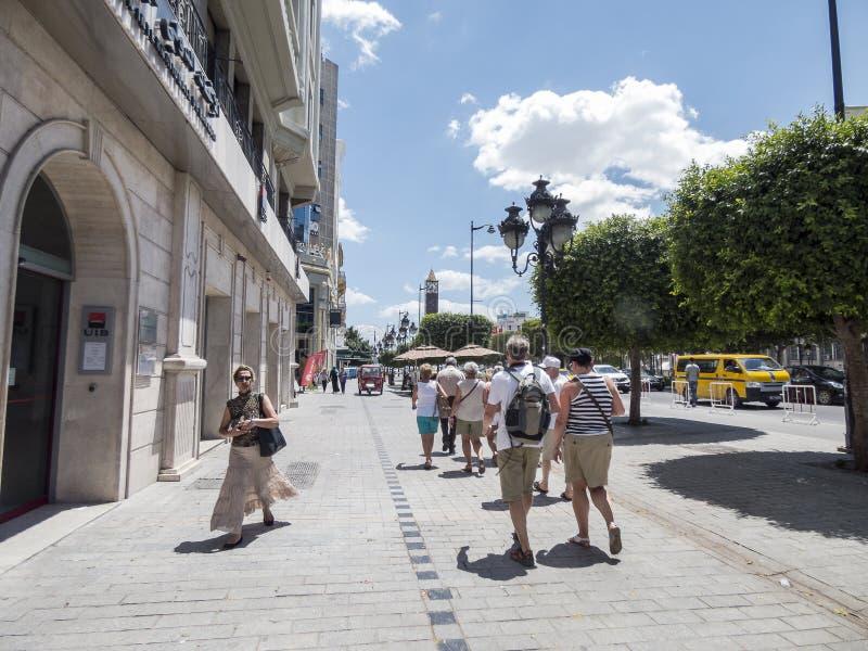 Улица в Тунисе стоковые фотографии rf