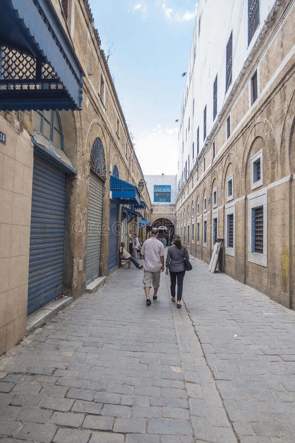 Улица в Тунисе стоковая фотография rf