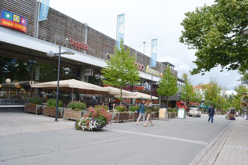 Улица в центре Lappeenranta стоковая фотография