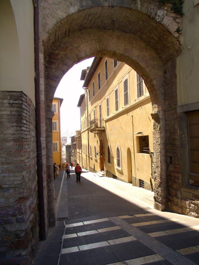 Улица в Assisi стоковое фото