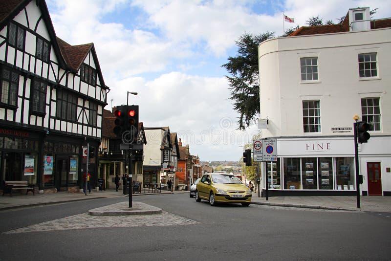 Улица в Colchester стоковое изображение