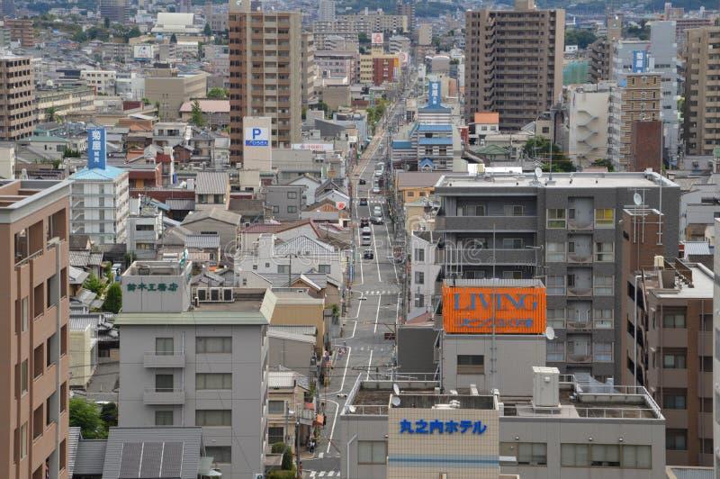 Улица в Fukuyama Японии 2016 стоковое изображение