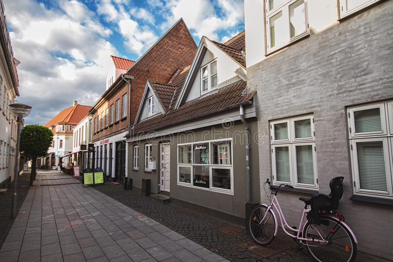 Улица в Horsens, Дании стоковое изображение