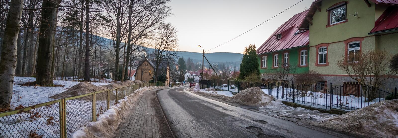 Улица в Szklarska Poreba стоковые фото