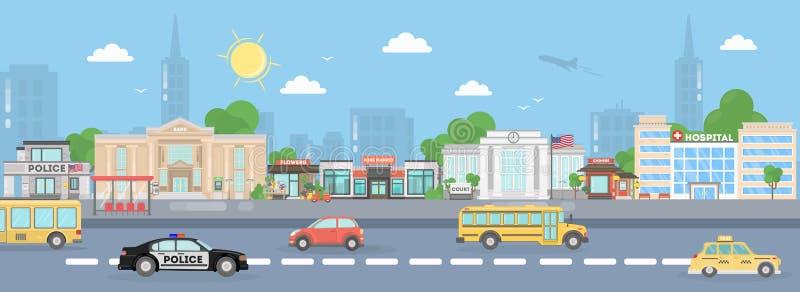 Улица города Америки бесплатная иллюстрация