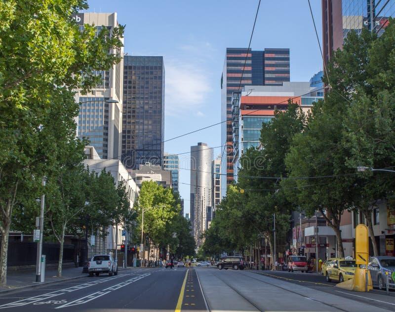Улица города Мельбурна стоковые фотографии rf