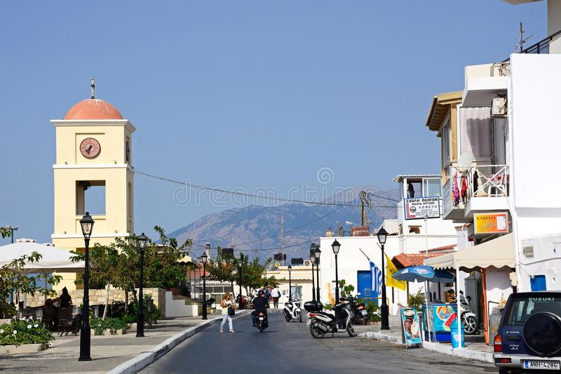 Улица городка, Ierapetra стоковое фото
