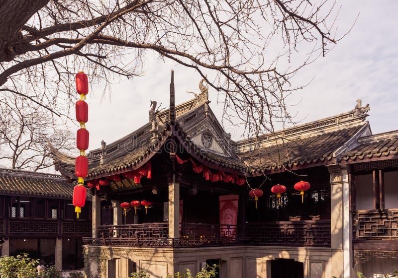 Улица городка Wuxi Huishan стоковые фото